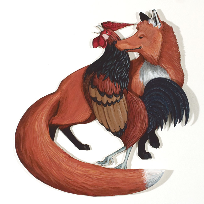 <h3>Chanticleer and<br/>the Fox</h3>